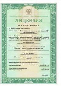 Лицензия (пример экземпляра)